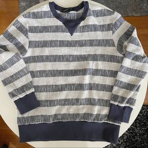 Timo Weiland Textured Stripe Crewneck Sweater Large